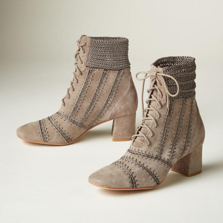 STITCHERY ANKLE BOOTS