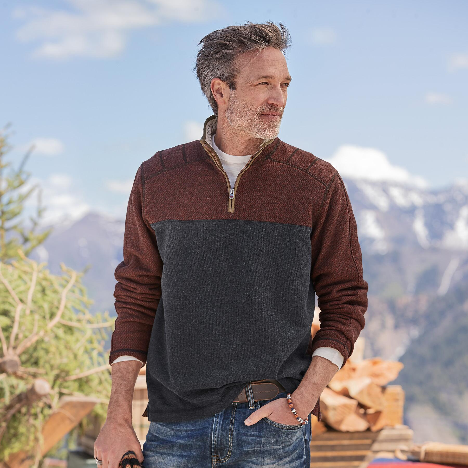 LAIRD 1/4 ZIP PULLOVER: View 1