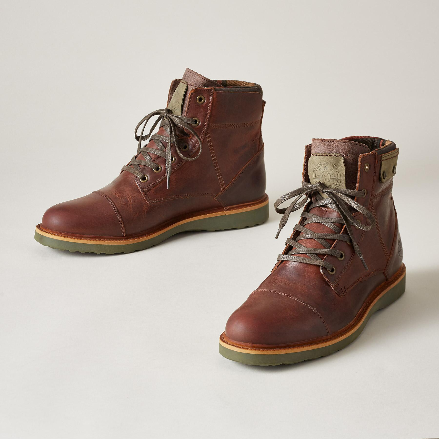 8e2219e1cfd6 WARWICK BOOTS RED BROWN