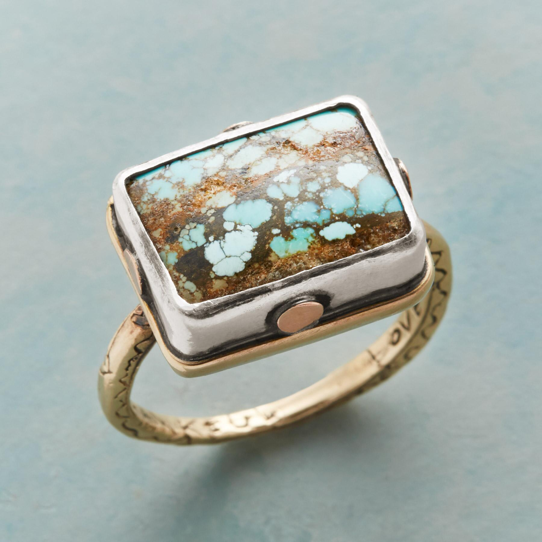 RIVETING TURQUOISE RING: View 1