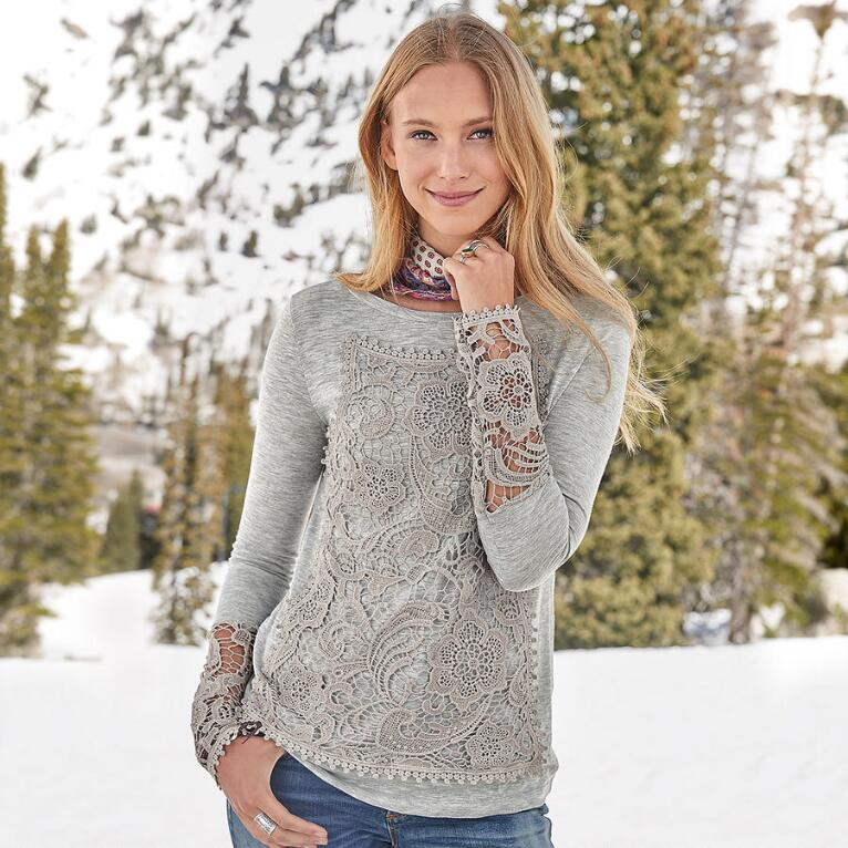 LACE TRADITIONS TOP