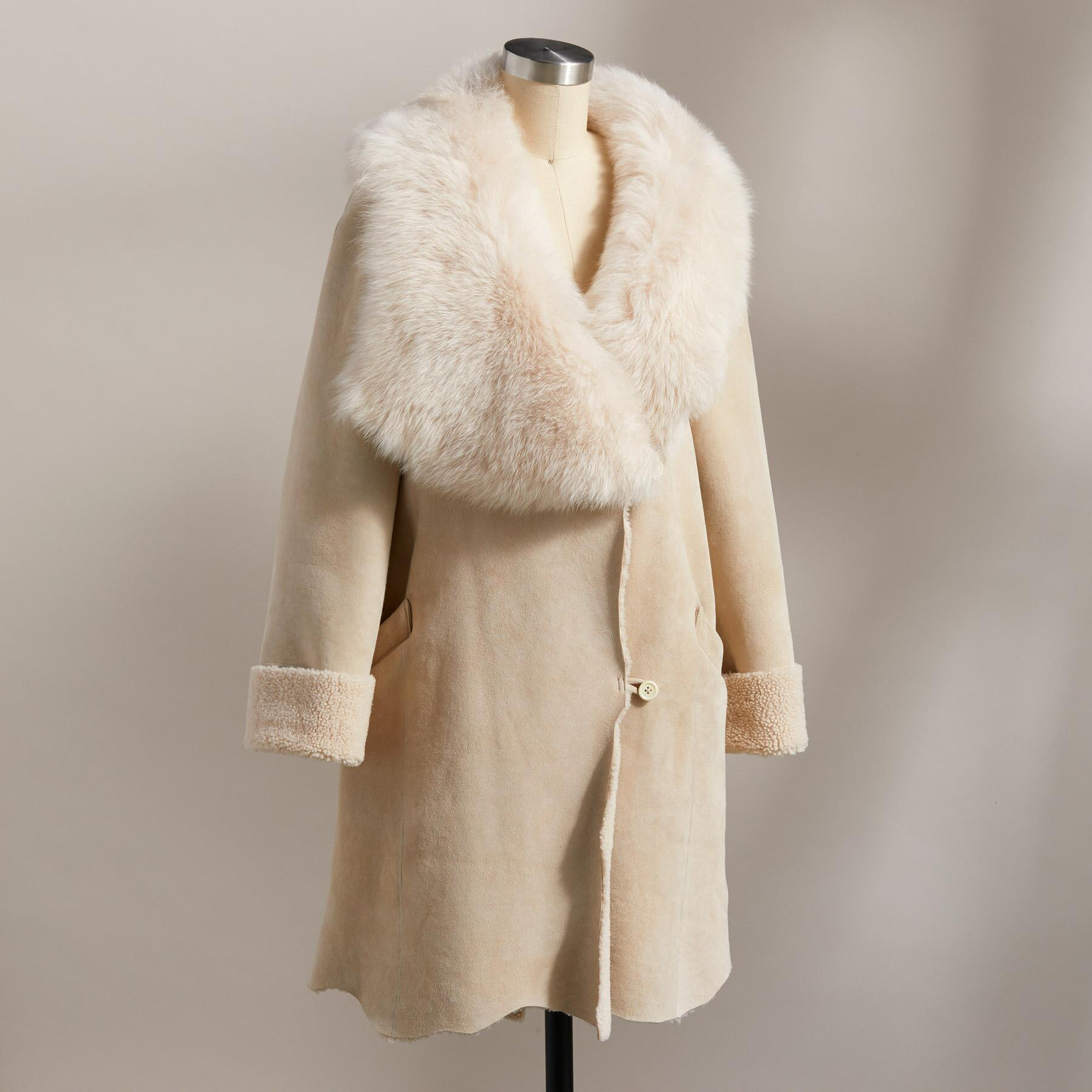 NORTHERN WOODS SHEARLING COAT: View 3