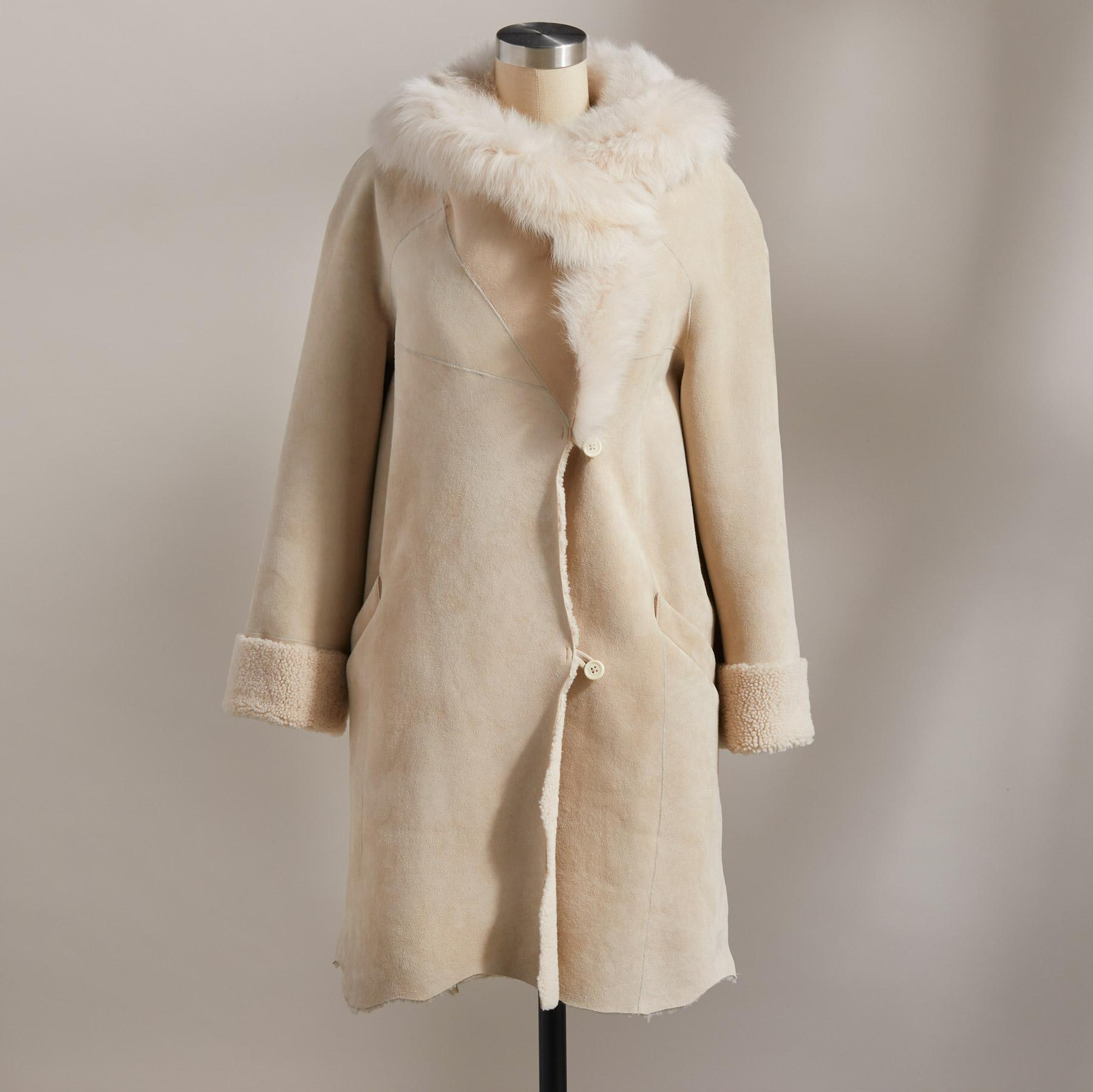 NORTHERN WOODS SHEARLING COAT: View 4