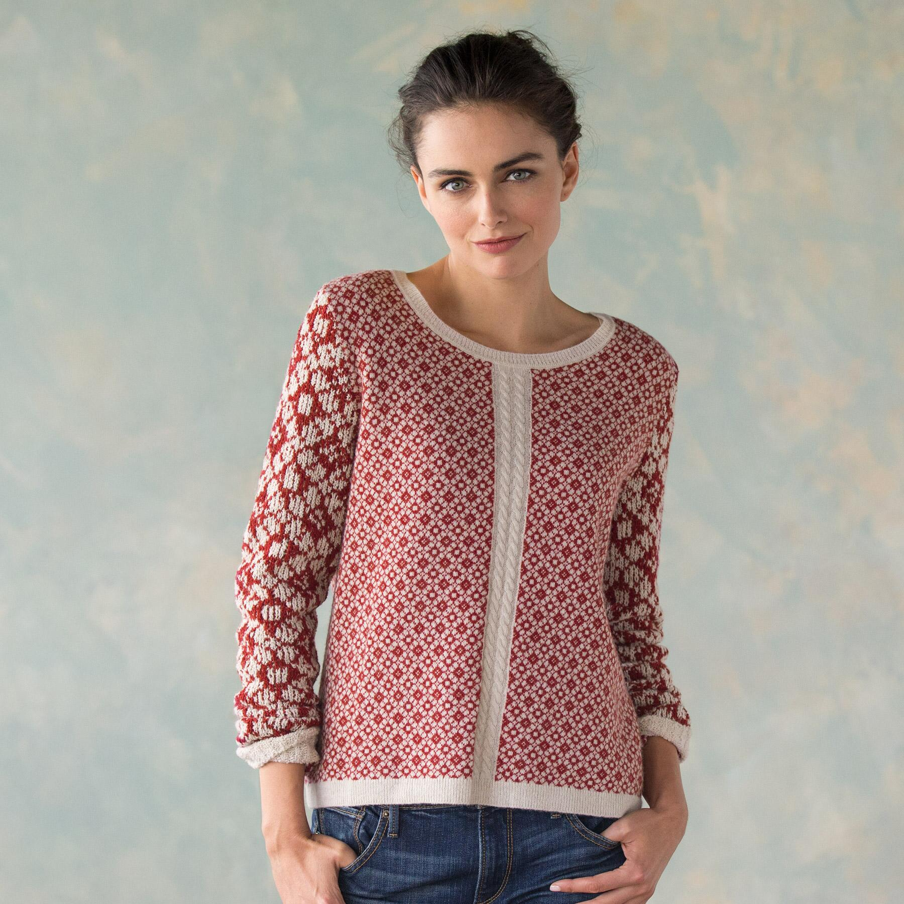 MIXED GAGUE JACQUARED PULLOVER: View 1