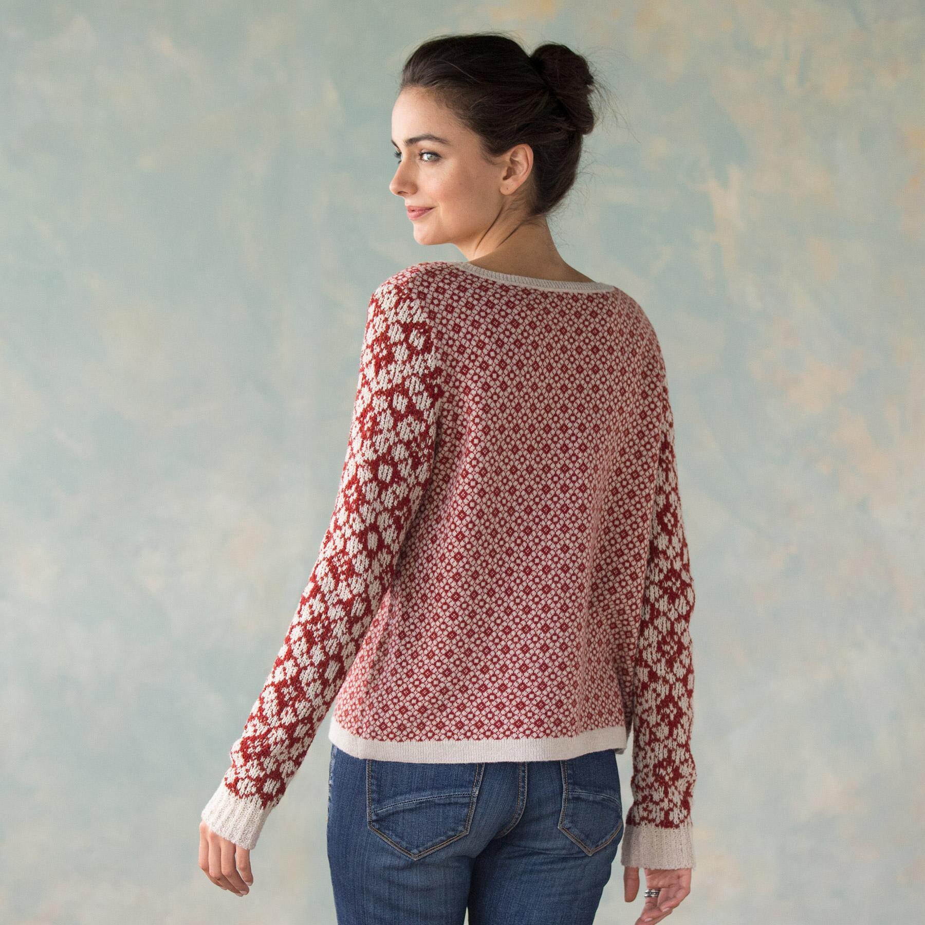 MIXED GAGUE JACQUARED PULLOVER: View 2