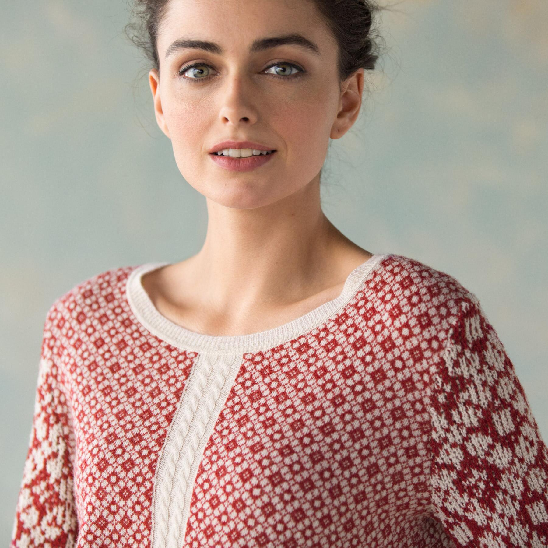 MIXED GAGUE JACQUARED PULLOVER: View 3