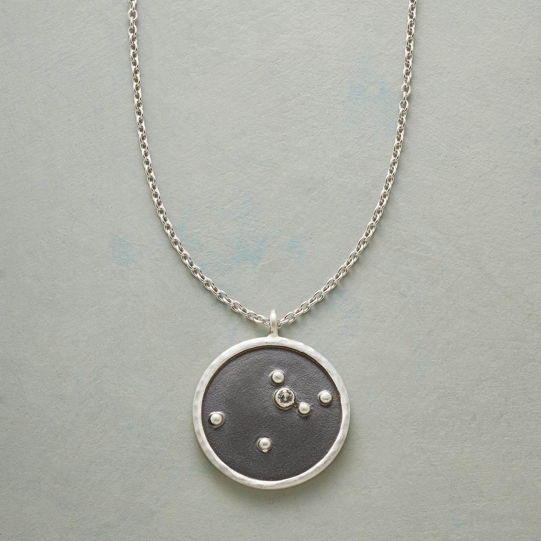 STERLING SILVER ZODIAC CONSTELLATION NECKLACE: View 1