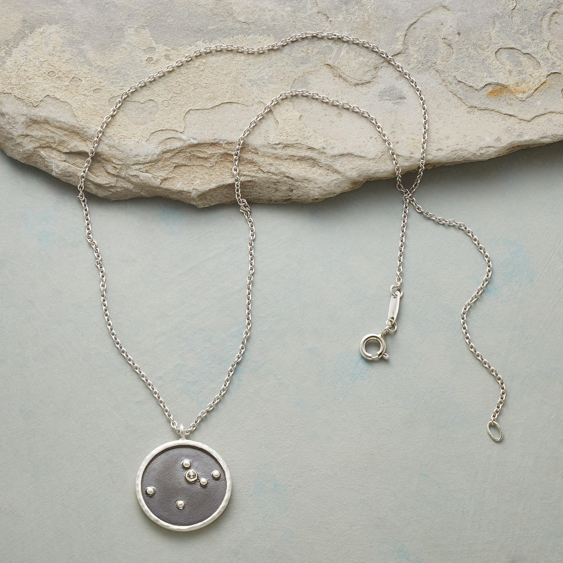 STERLING SILVER ZODIAC CONSTELLATION NECKLACE: View 2