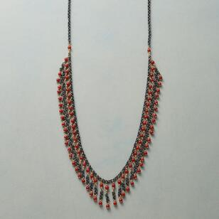 CORAL FRILL NECKLACE