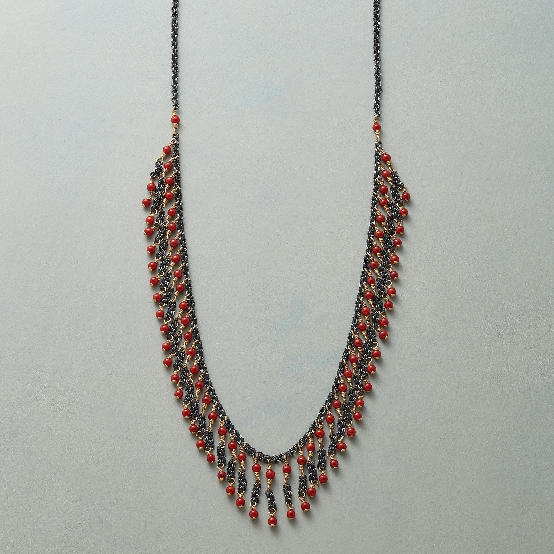 CORAL FRILL NECKLACE: View 1