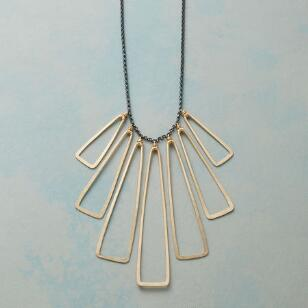 INTERSECTING TRIANGLES NECKLACE