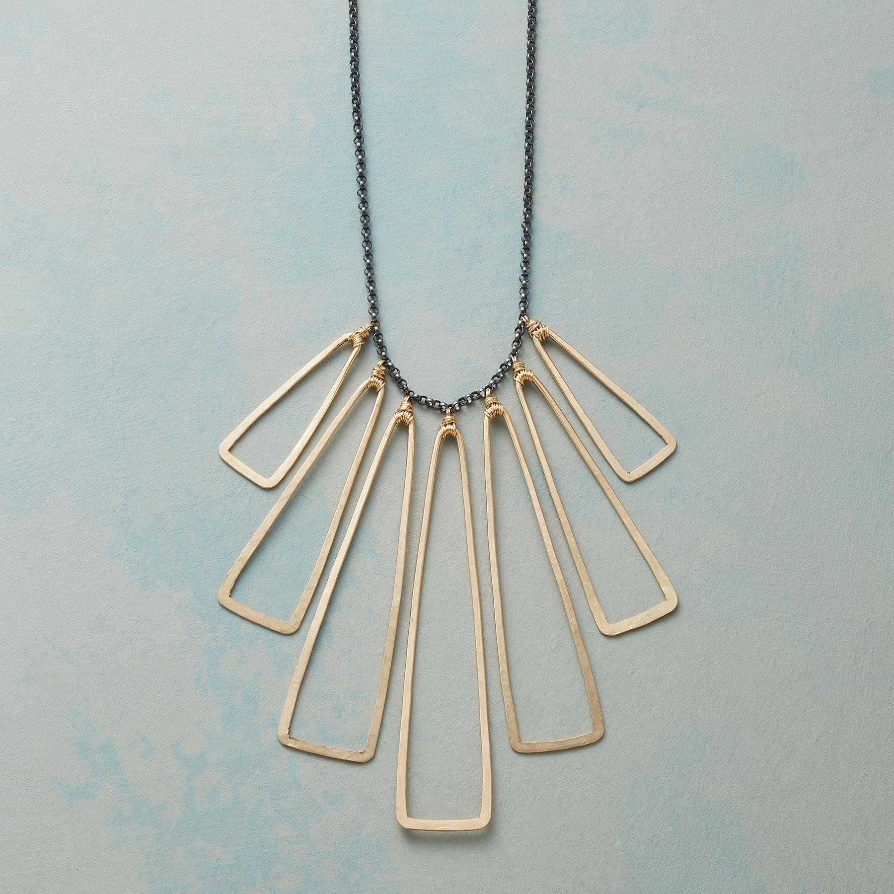 INTERSECTING TRIANGLES NECKLACE: View 1