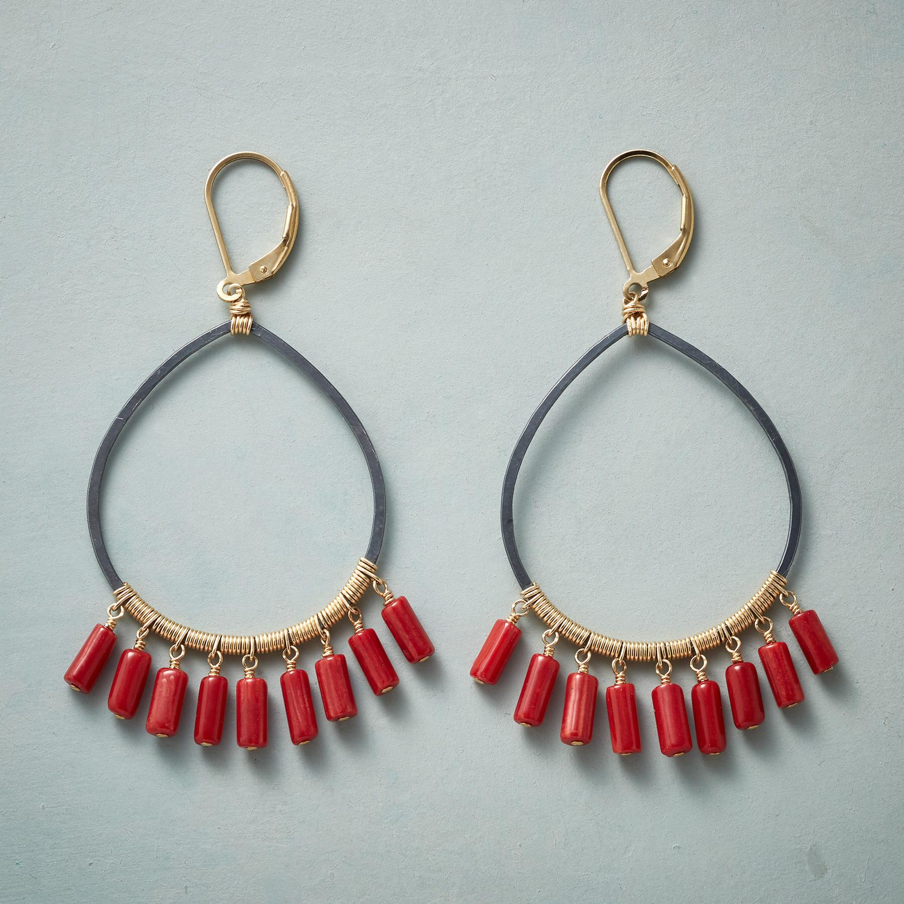 COILED CORAL EARRINGS: View 1