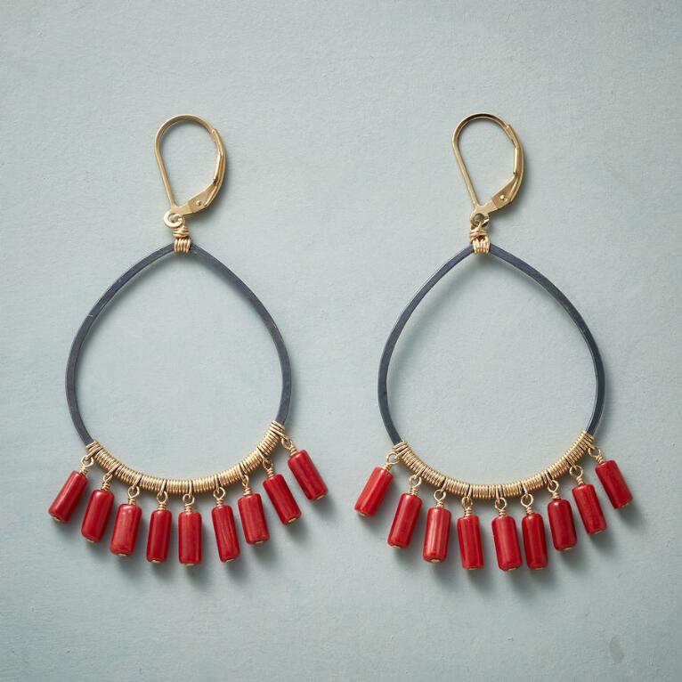 COILED CORAL EARRINGS
