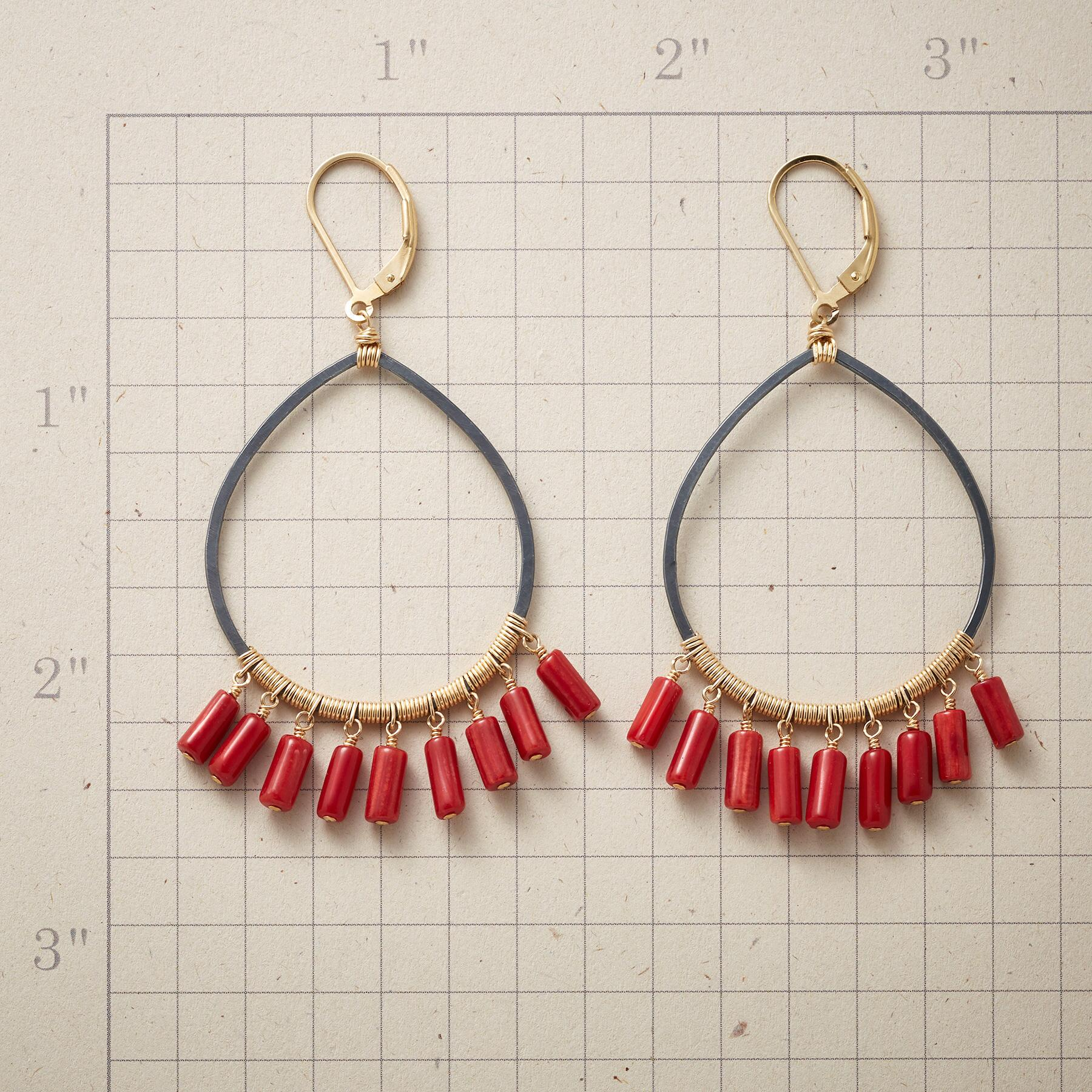 COILED CORAL EARRINGS: View 2