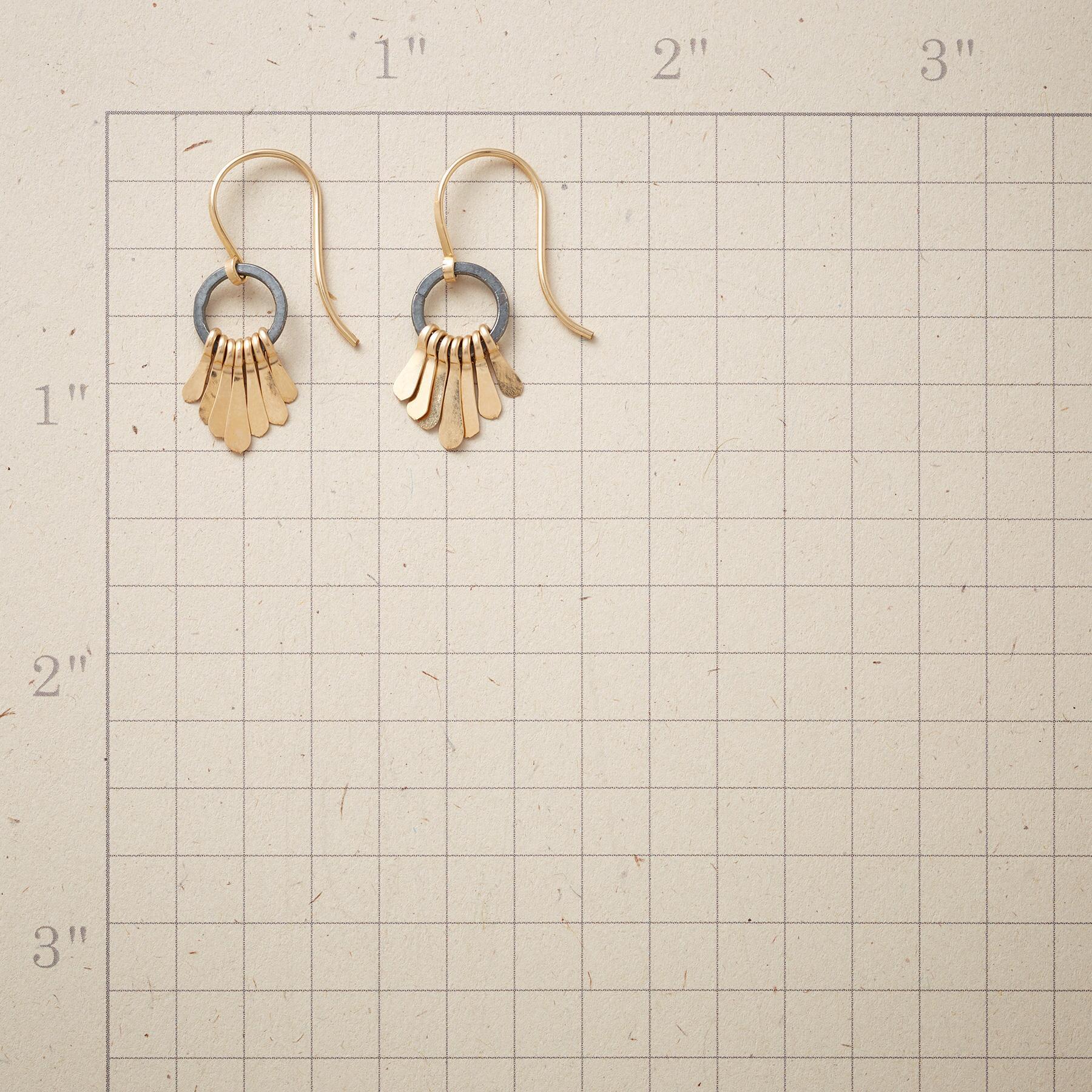 GOLDEN PLUME EARRINGS: View 2