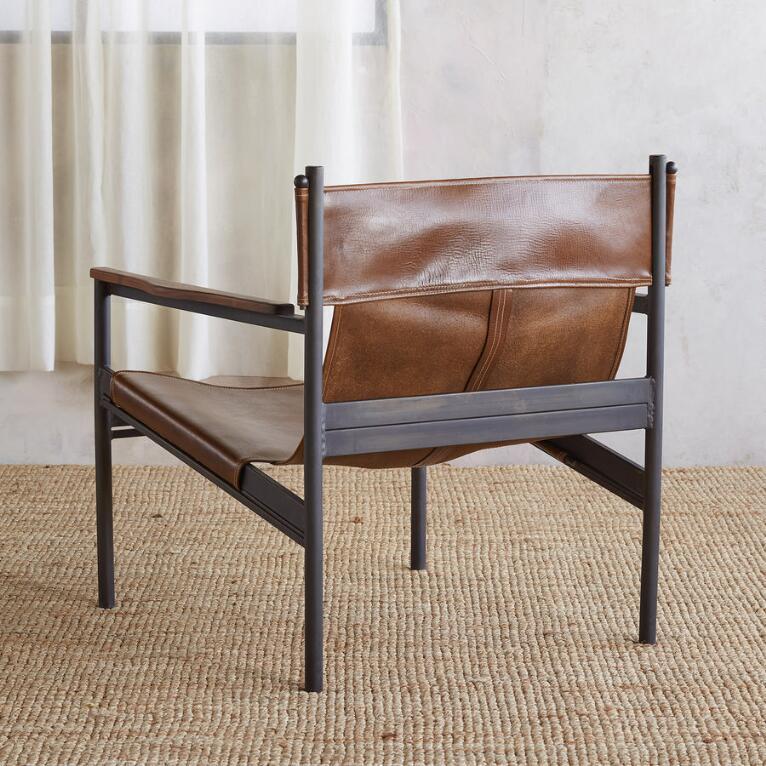 Phenomenal Capitan Leather Sling Chair Uwap Interior Chair Design Uwaporg