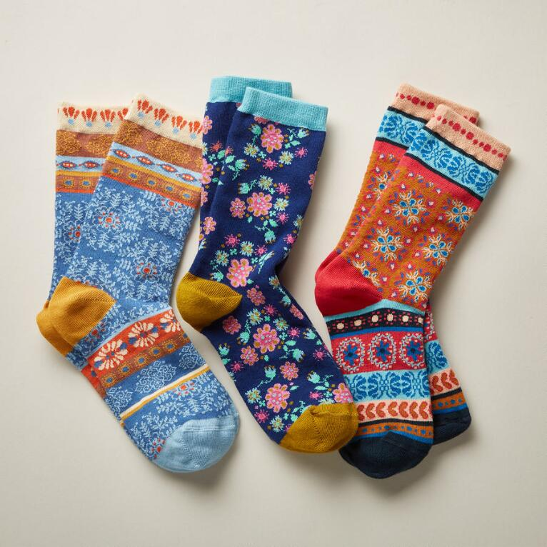 KATRYA SOCKS, SET OF 3