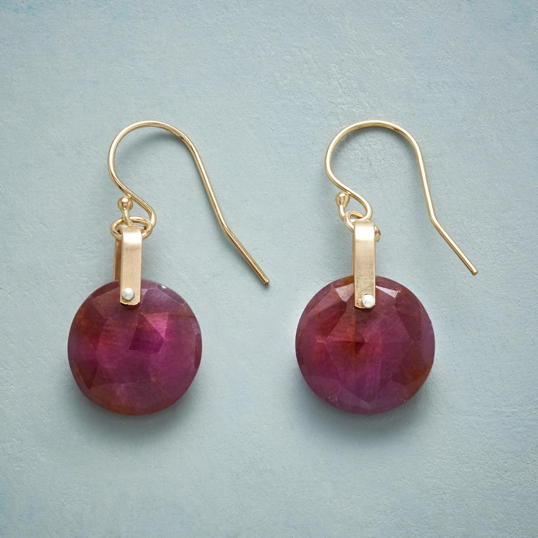 ROSY SAPPHIRE EARRINGS: View 1