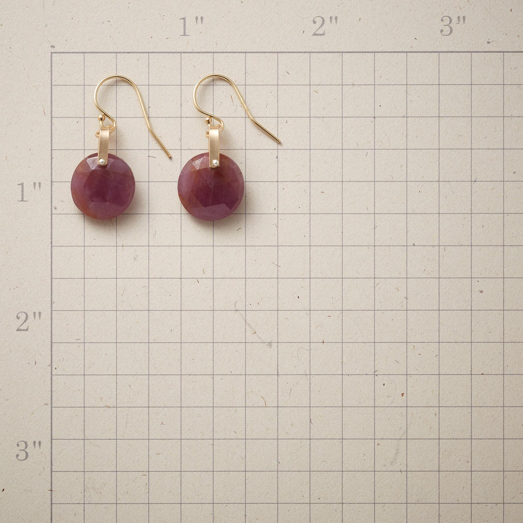 ROSY SAPPHIRE EARRINGS: View 2
