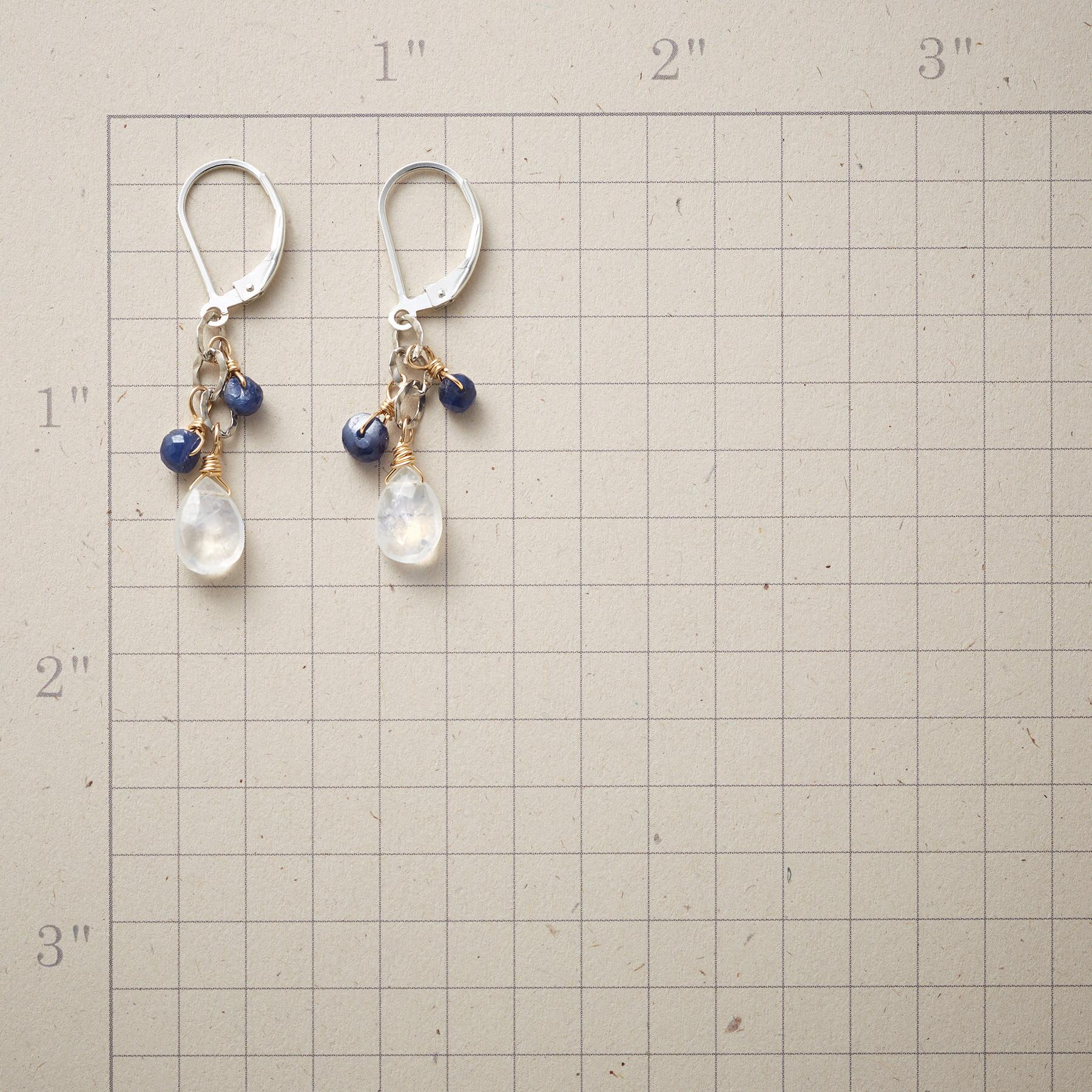 MOONSTONE & BLUE STONE EARRINGS: View 2