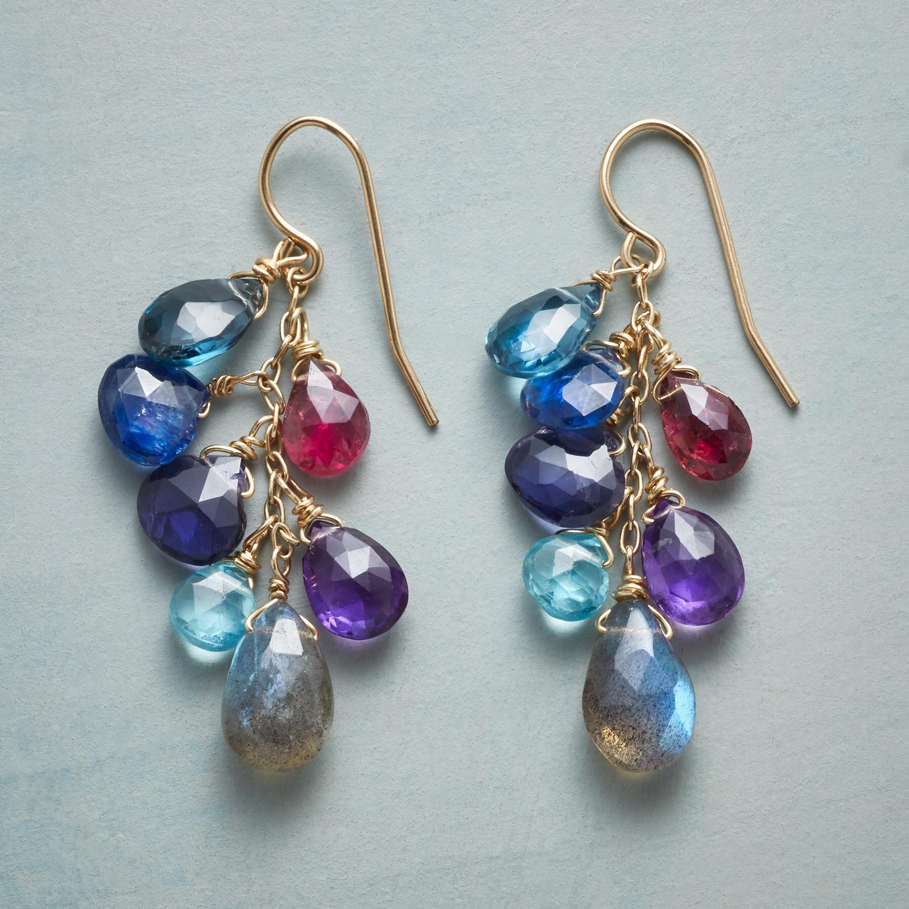 BLUE WAVELENGTH EARRINGS: View 1