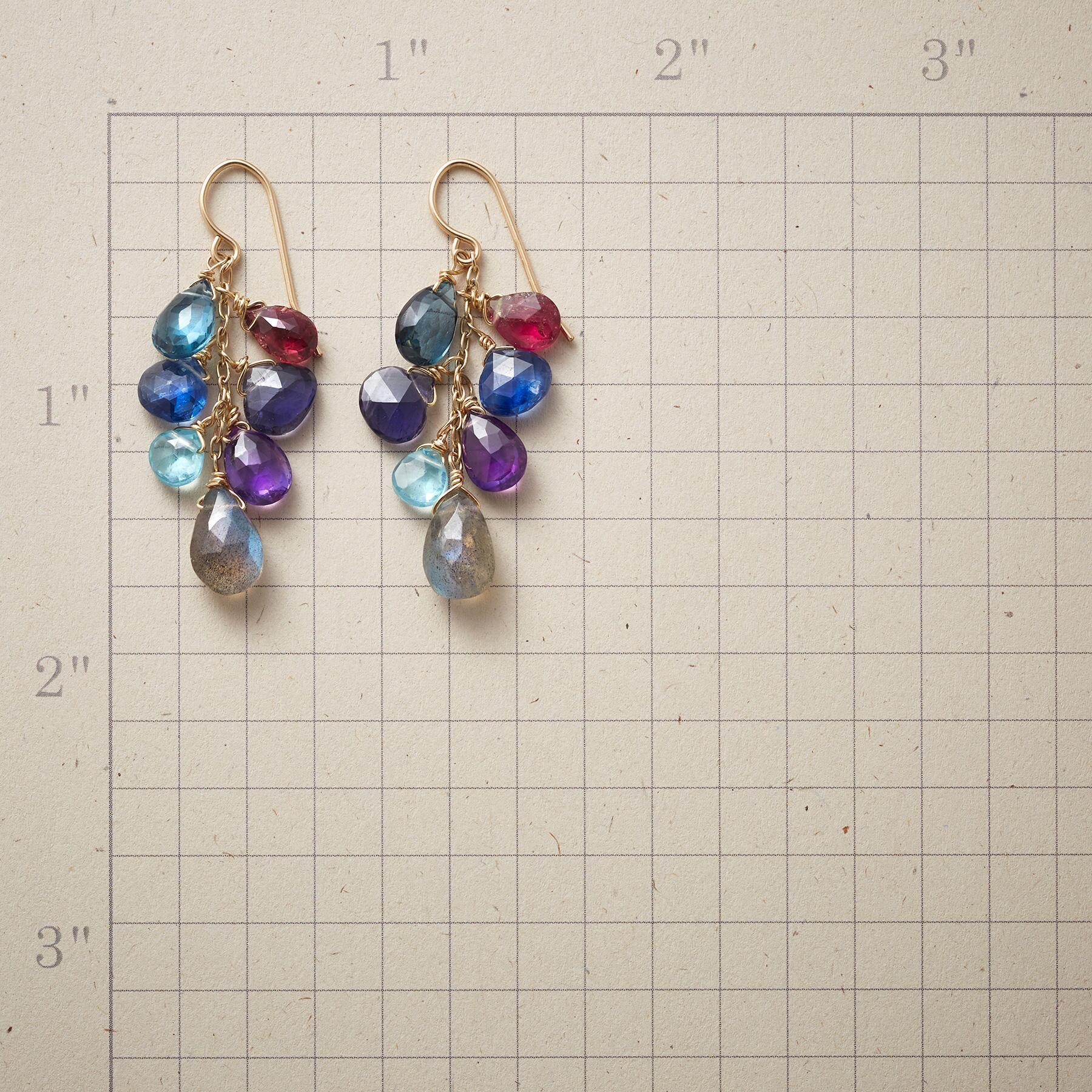 BLUE WAVELENGTH EARRINGS: View 2