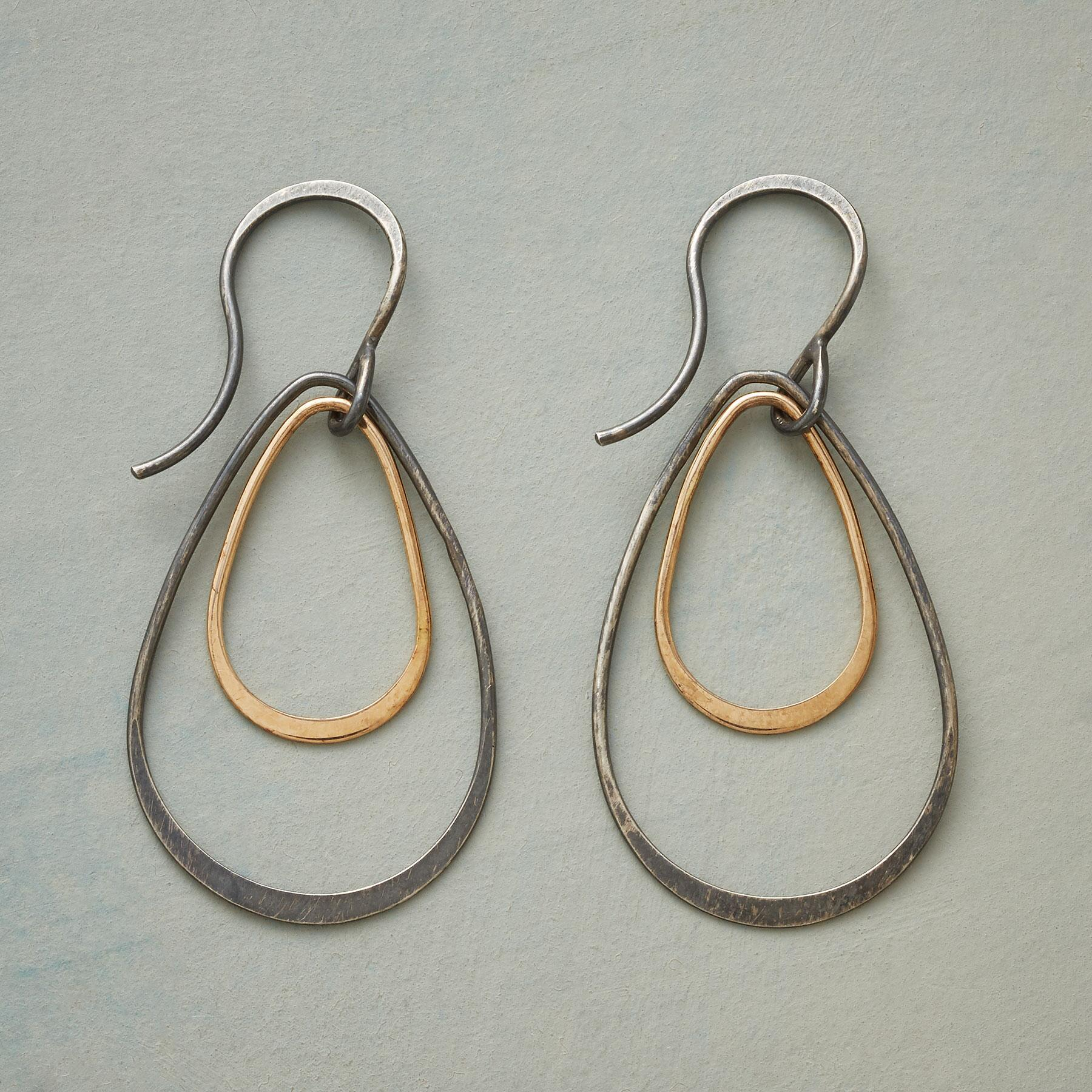 TIERED TEARDROP EARRINGS: View 1
