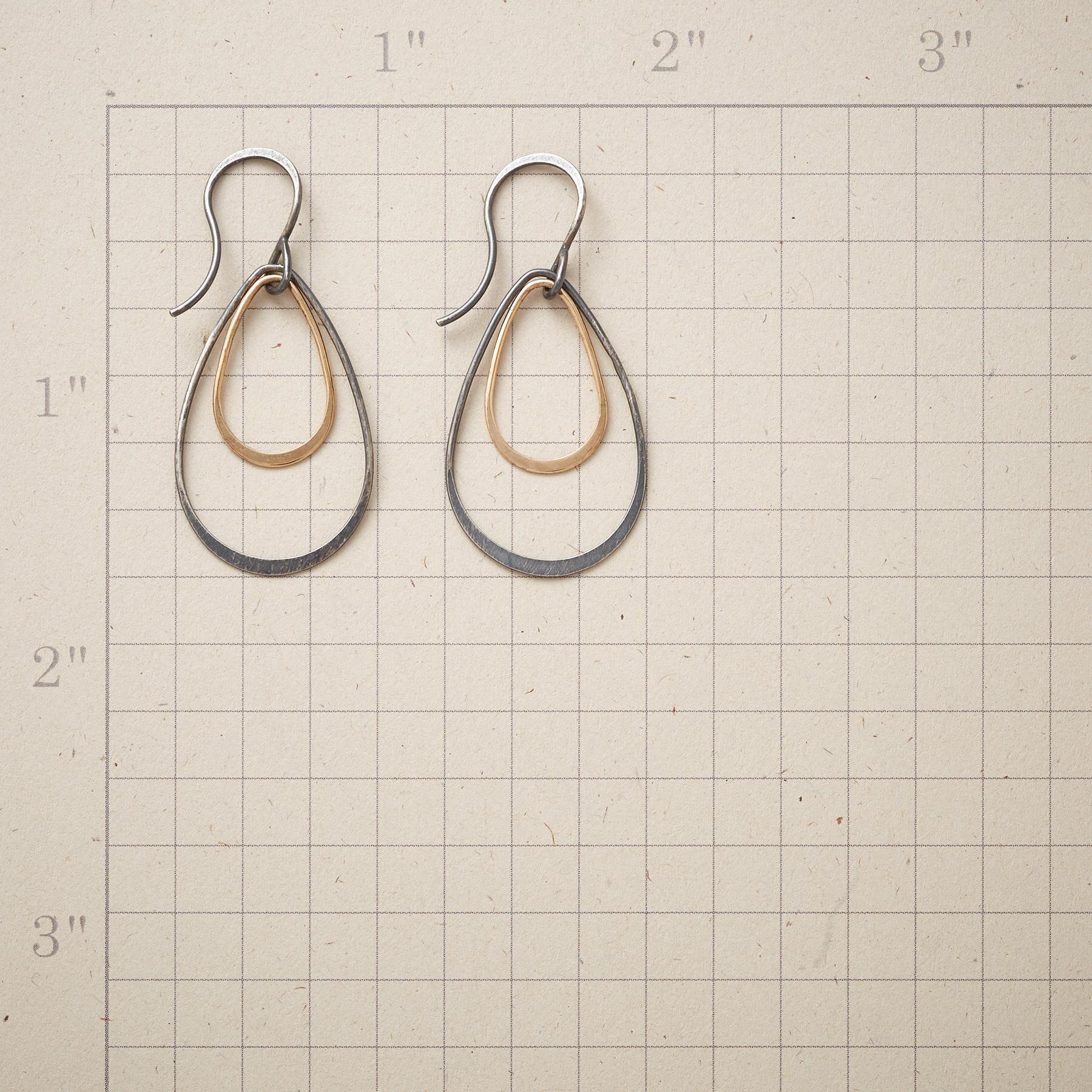 TIERED TEARDROP EARRINGS: View 2