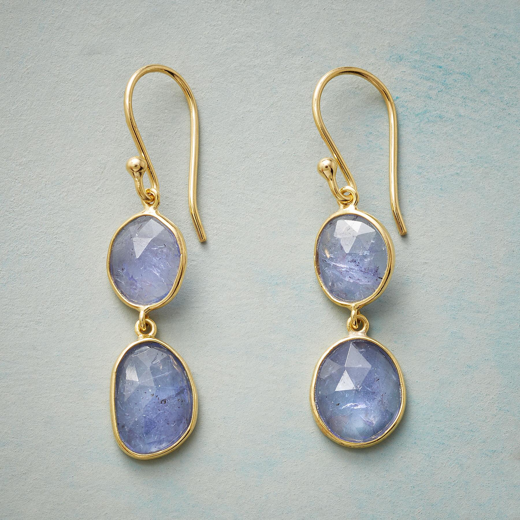 TANZANITE TWOSOME EARRINGS: View 1