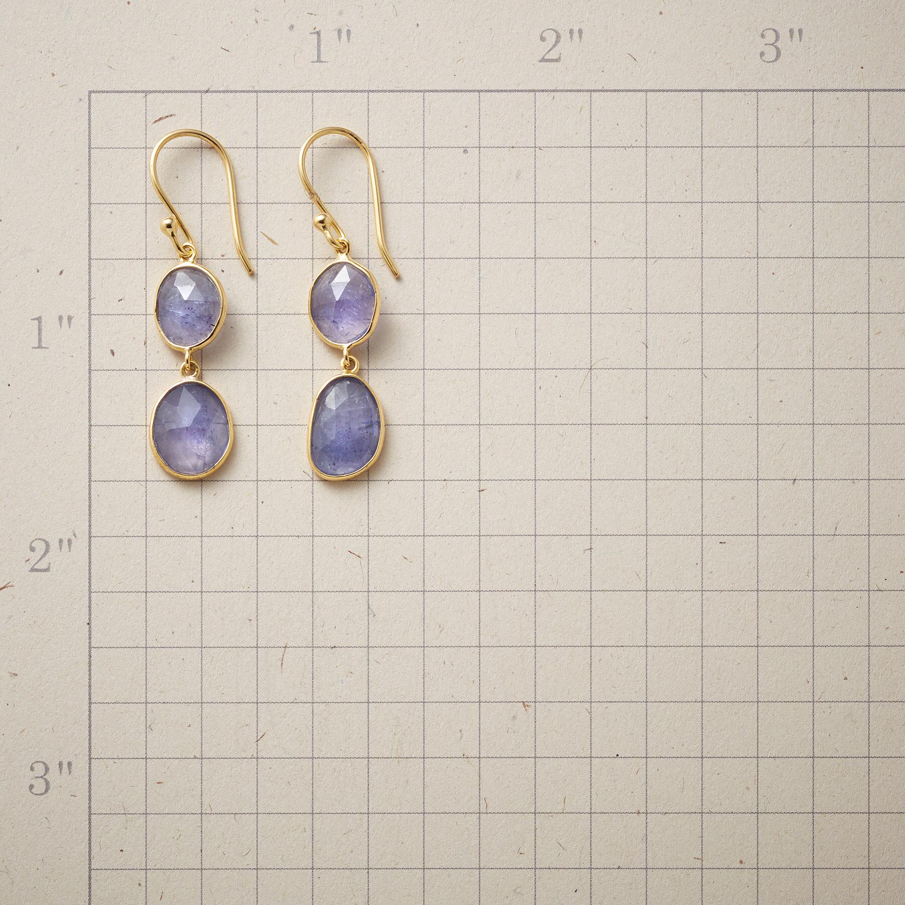 TANZANITE TWOSOME EARRINGS: View 2