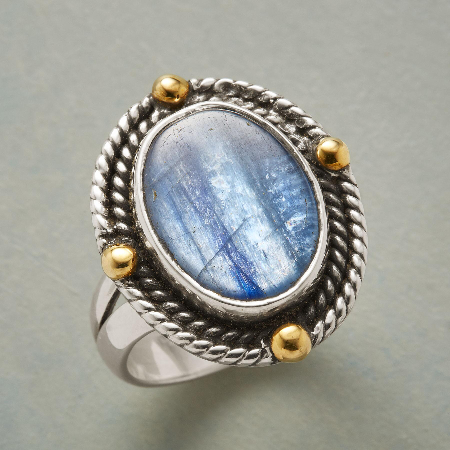 ROPED KYANITE RING: View 1