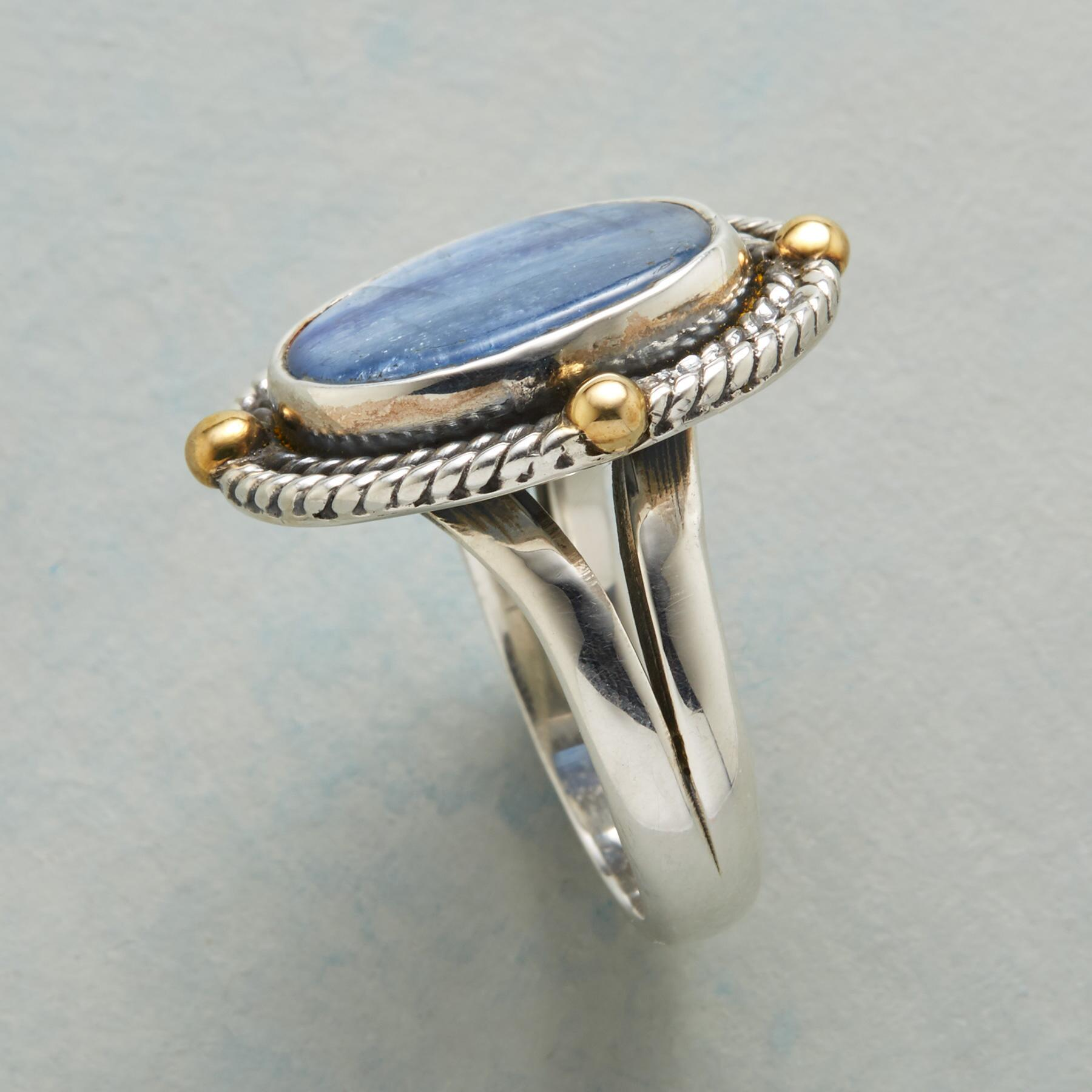ROPED KYANITE RING: View 2