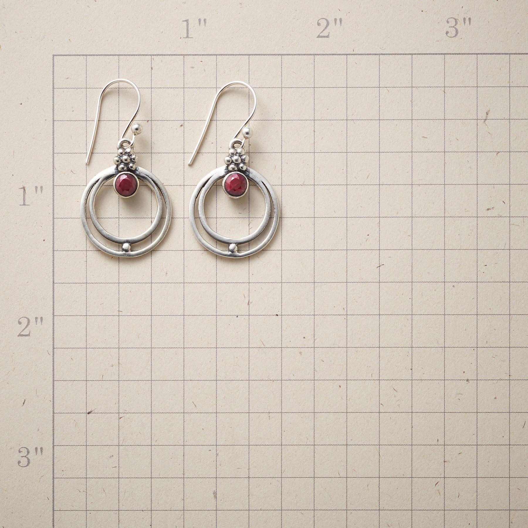 RINGED RUBY EARRINGS: View 2