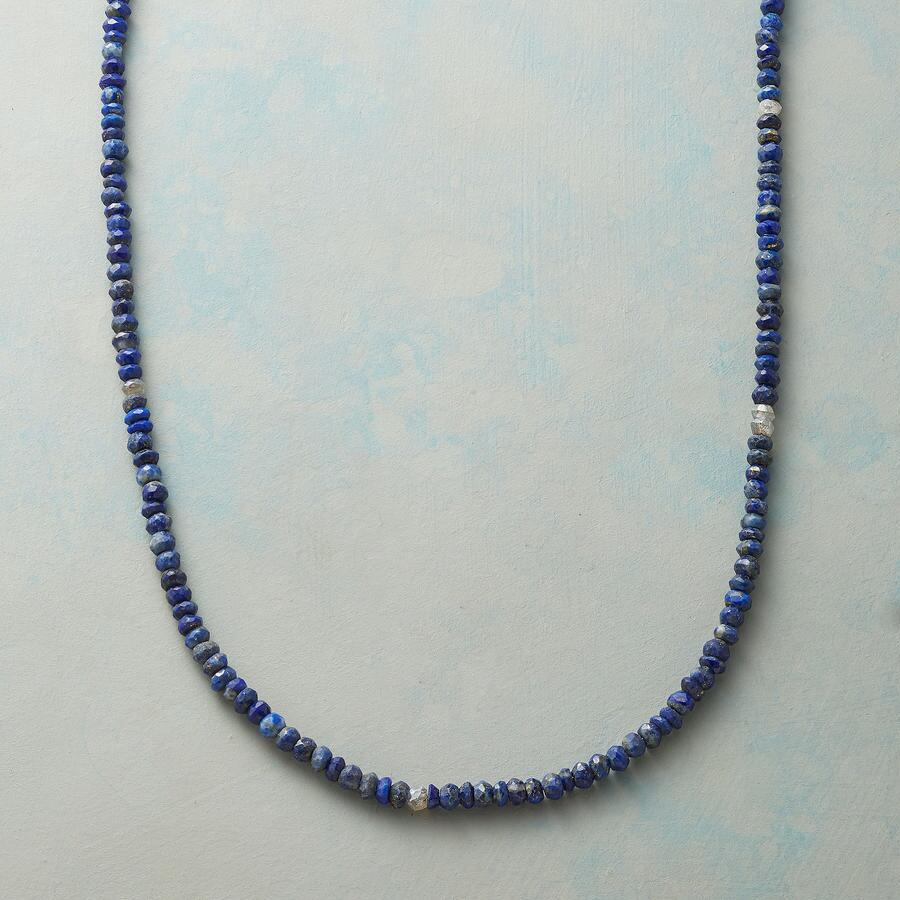 LARIAT LAPIS NECKLACE