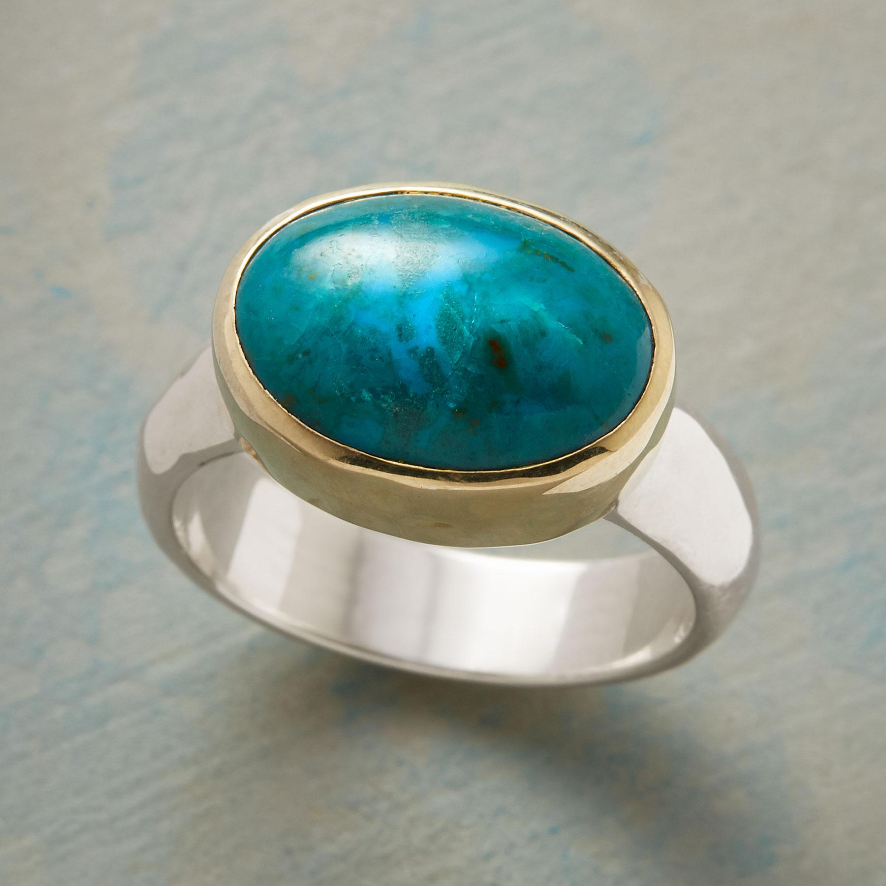 CALL ME CHRYSOCOLLA RING: View 1