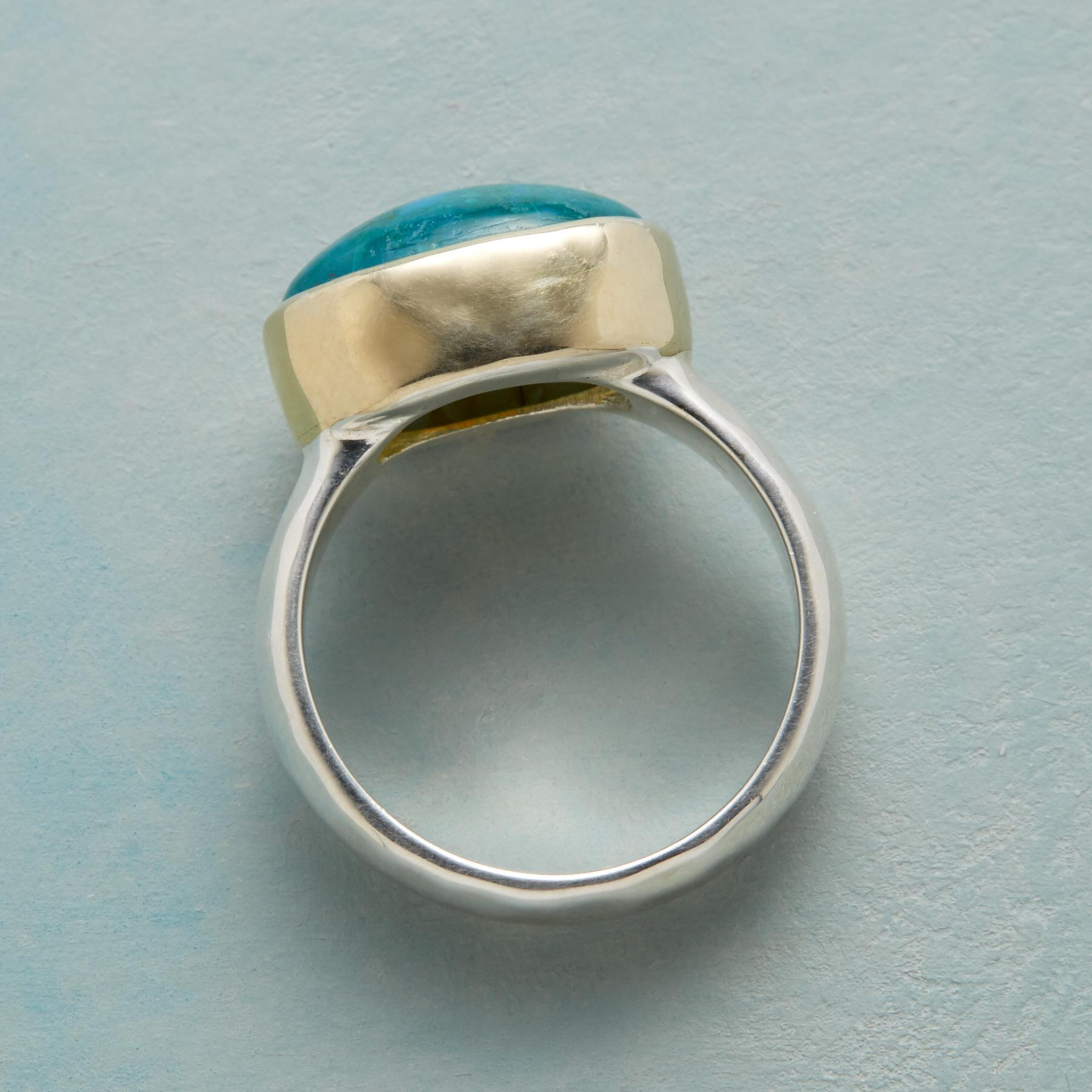 CALL ME CHRYSOCOLLA RING: View 2
