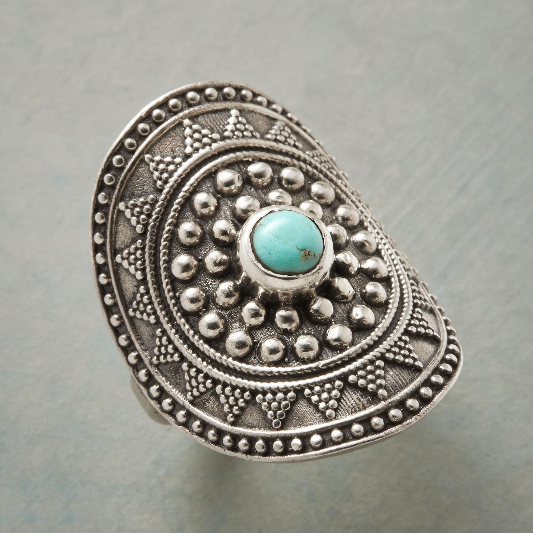 TURQUOISE SHIELD RING: View 1