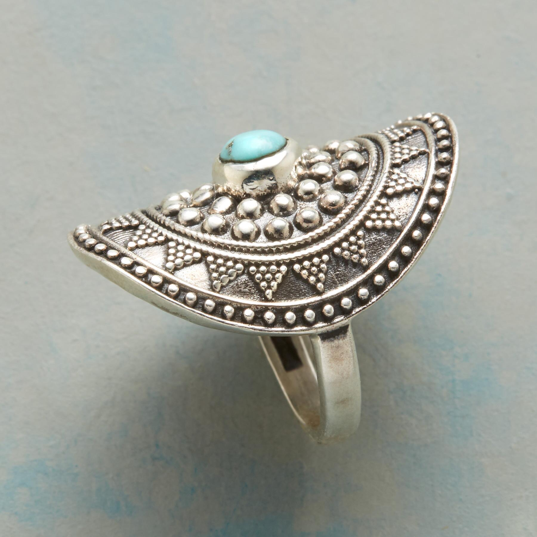 TURQUOISE SHIELD RING: View 2