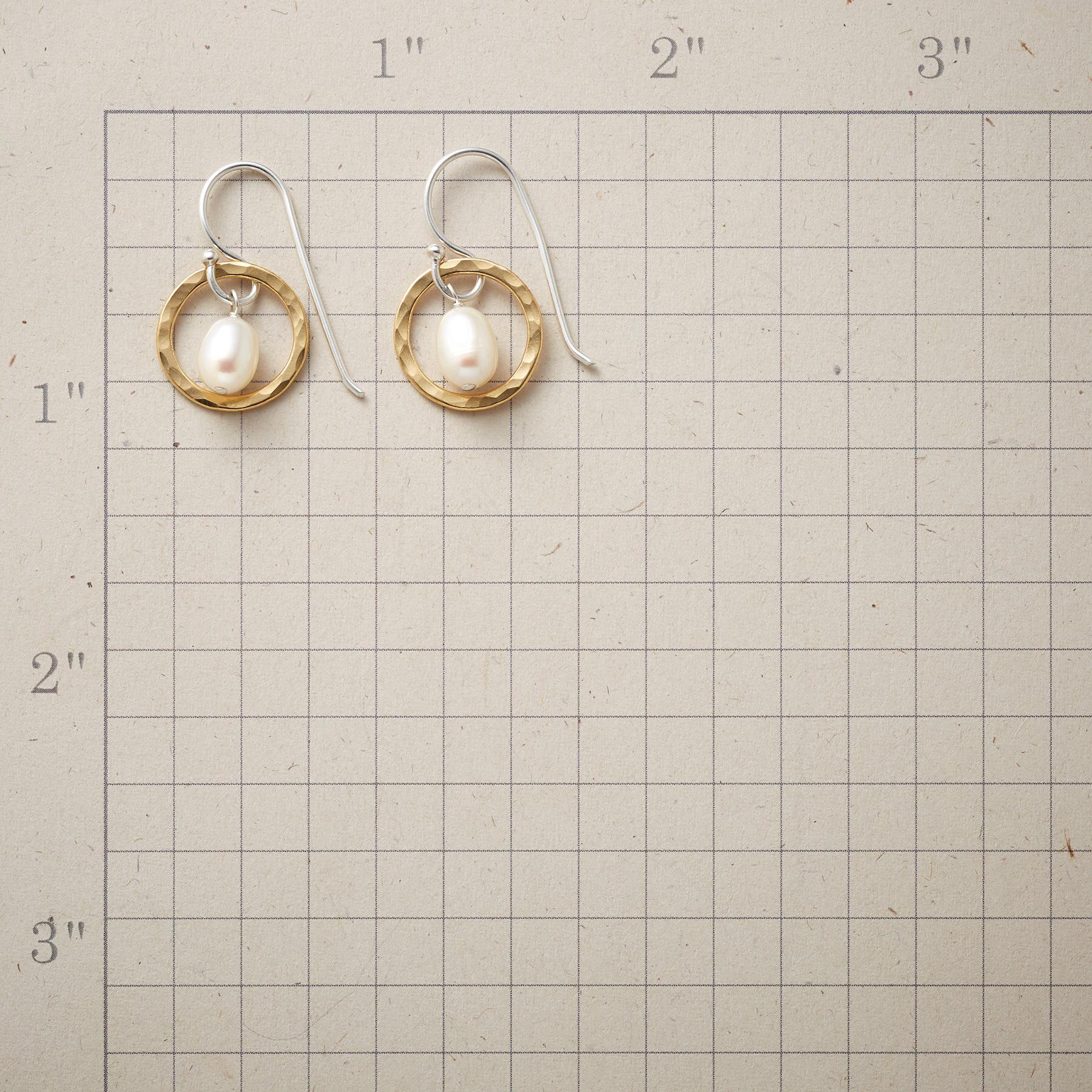 THROUGH HOOPS PEARL EARRINGS: View 2