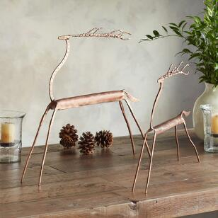 COPPER TOP REINDEER S/2