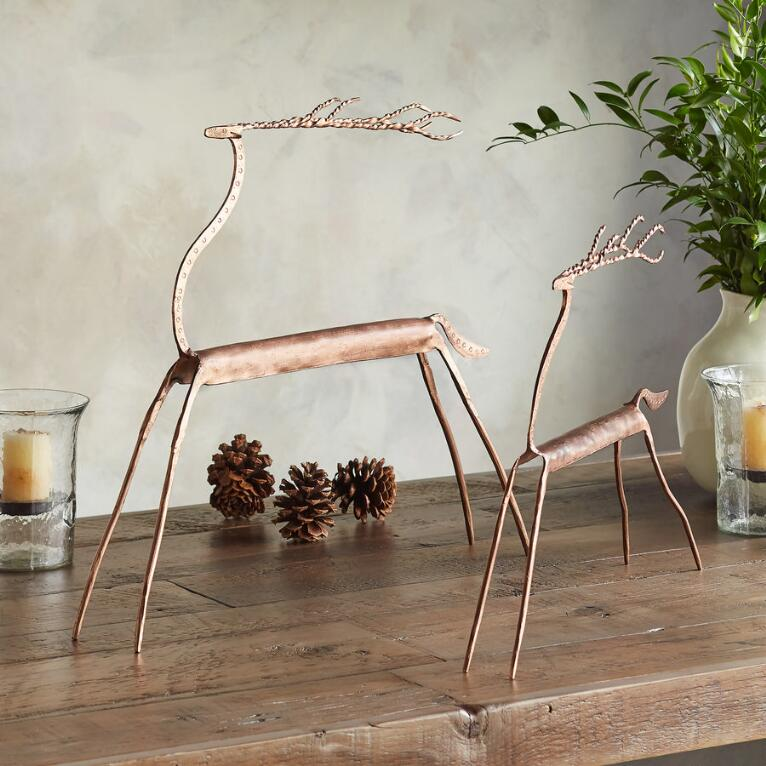 COPPER TOP REINDEER, SET OF 2