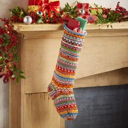 HEIRLOOM FESTIVE STRIPES STOCKING