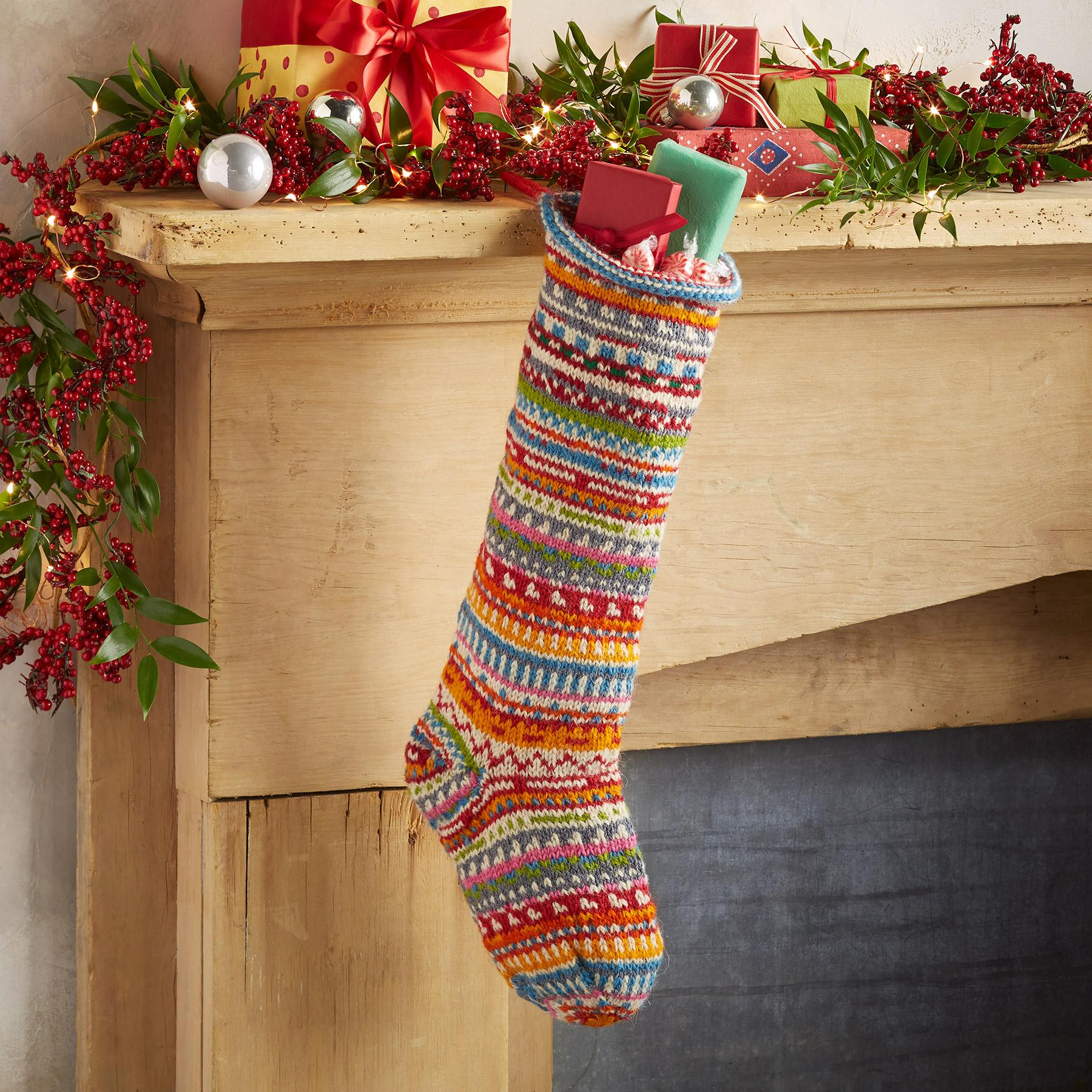 HEIRLOOM FESTIVE STRIPES STOCKING: View 1