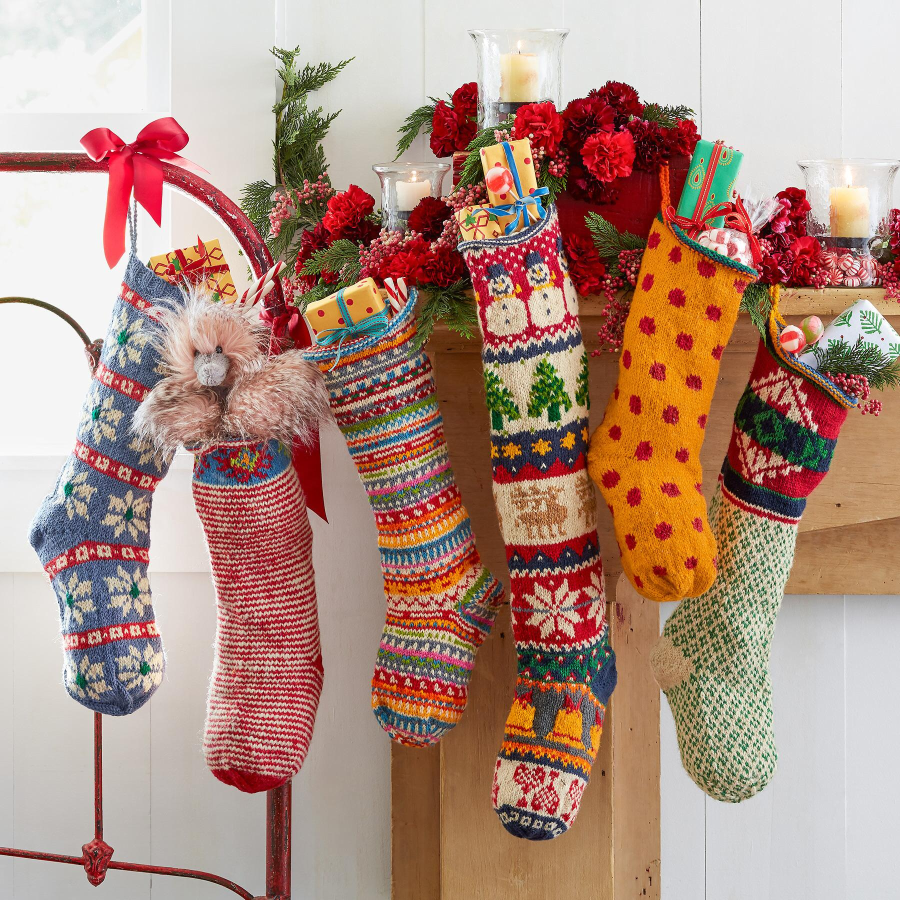 HEIRLOOM FESTIVE STRIPES STOCKING: View 2