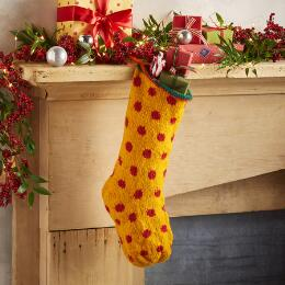 HEIRLOOM POLKA DOT STOCKING