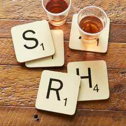 SCRABBLE CHAMP COASTER