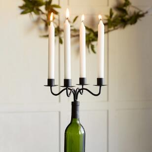 WINE BOTTLE CANDLELABRA