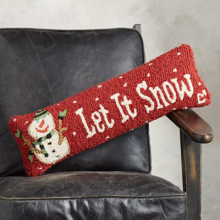 LET IT SNOW BOLSTER PILLOW