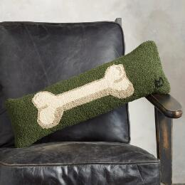 DOG BONE BOLSTER PILLOW